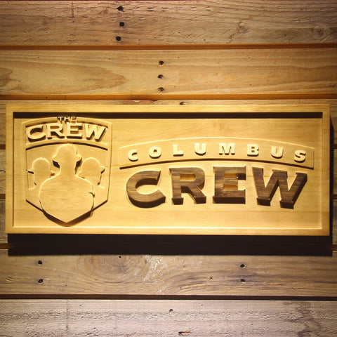 Columbus Crew SC Wooden Sign - Legacy Edition - Small - SafeSpecial