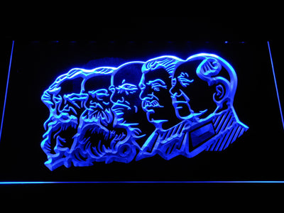 Communist Leaders LED Neon Sign - Blue - SafeSpecial