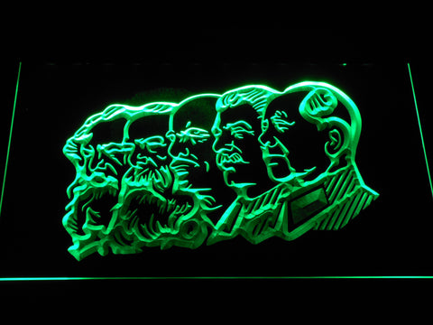 Communist Leaders LED Neon Sign - Green - SafeSpecial