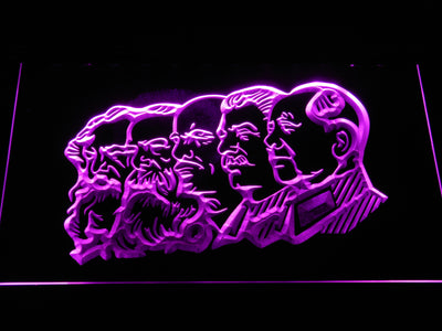 Communist Leaders LED Neon Sign - Purple - SafeSpecial