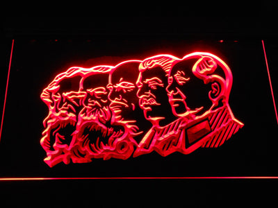 Communist Leaders LED Neon Sign - Red - SafeSpecial