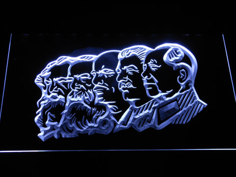 Communist Leaders LED Neon Sign - White - SafeSpecial