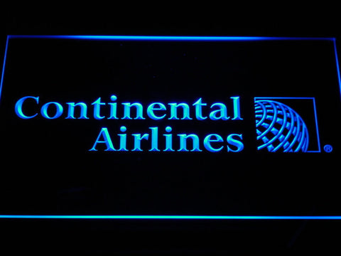 Continental Airlines LED Neon Sign - Blue - SafeSpecial