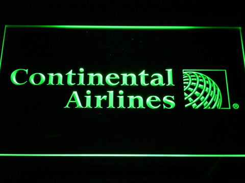 Continental Airlines LED Neon Sign - Green - SafeSpecial