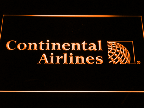 Continental Airlines LED Neon Sign - Orange - SafeSpecial