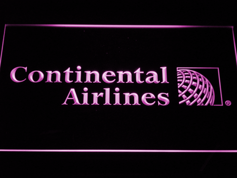 Continental Airlines LED Neon Sign - Purple - SafeSpecial