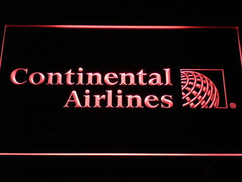 Continental Airlines LED Neon Sign - Red - SafeSpecial