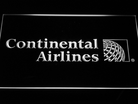 Continental Airlines LED Neon Sign - White - SafeSpecial