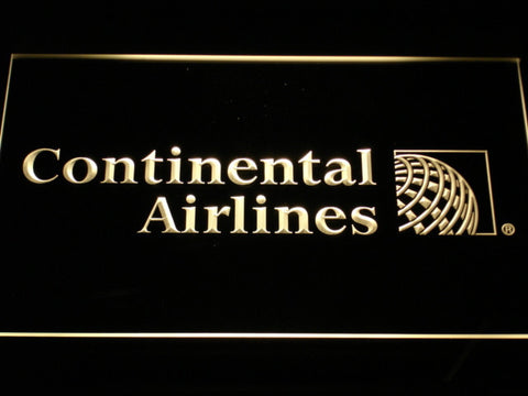 Continental Airlines LED Neon Sign - Yellow - SafeSpecial