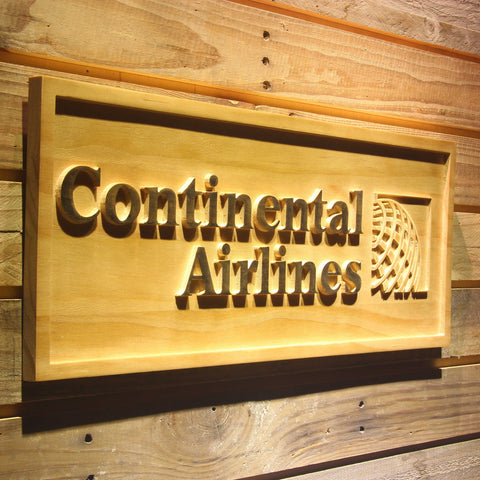 Continental Airlines Wooden Sign - - SafeSpecial