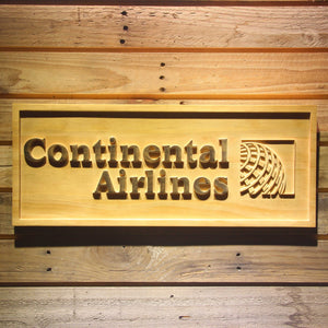Continental Airlines Wooden Sign - Small - SafeSpecial