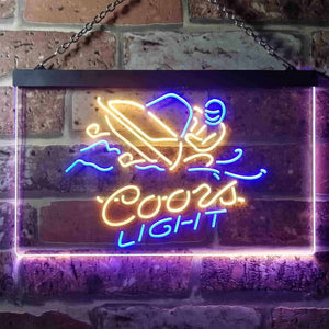 Coors Light Snowmobile Neon-Like LED Sign - Dual Color