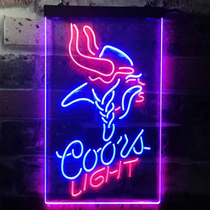 Coors Light Viking Neon-Like LED Sign - Dual Color