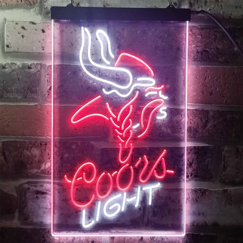 Image of Coors Light Viking Neon-Like LED Sign - Dual Color