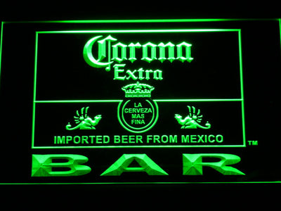 Corona Extra Bar LED Neon Sign - Green - SafeSpecial