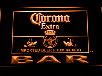 Corona Extra Bar LED Neon Sign - Orange - SafeSpecial