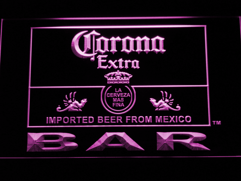 Image of Corona Extra Bar LED Neon Sign - Purple - SafeSpecial