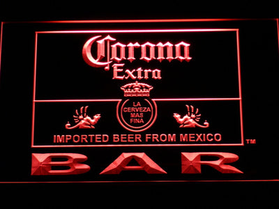 Corona Extra Bar LED Neon Sign - Red - SafeSpecial