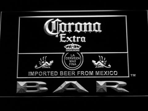 Image of Corona Extra Bar LED Neon Sign - White - SafeSpecial