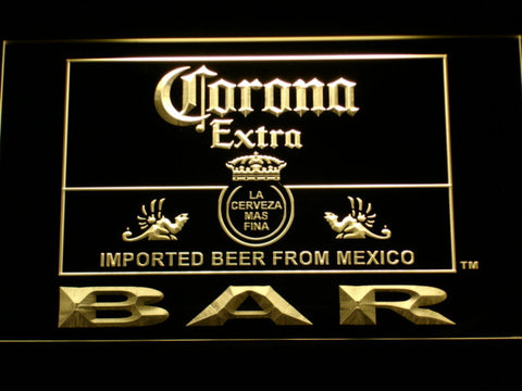 Image of Corona Extra Bar LED Neon Sign - Yellow - SafeSpecial