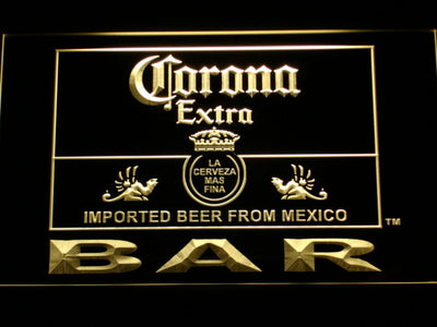 Corona Extra Bar LED Neon Sign - Yellow - SafeSpecial