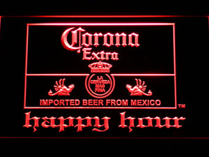 Corona Extra Happy Hour LED Neon Sign - Red - SafeSpecial