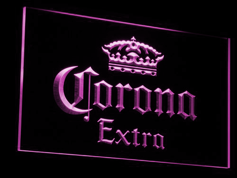 Corona Extra LED Neon Sign - Purple - SafeSpecial