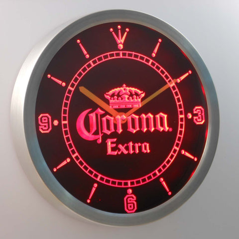 Image of Corona Extra LED Neon Wall Clock - Red - SafeSpecial
