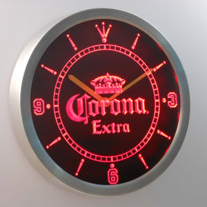 Corona Extra LED Neon Wall Clock - Red - SafeSpecial