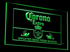 Corona Extra Mexico LED Neon Sign - Green - SafeSpecial