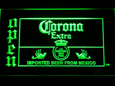 Corona Extra Open LED Neon Sign - Green - SafeSpecial