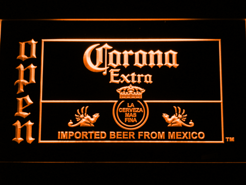 Image of Corona Extra Open LED Neon Sign - Orange - SafeSpecial