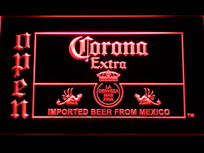 Corona Extra Open LED Neon Sign - Red - SafeSpecial