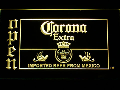 Image of Corona Extra Open LED Neon Sign - Yellow - SafeSpecial