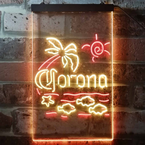 Image of Corona Extra - Palm Tree Neon-Like LED Sign - Dual Color