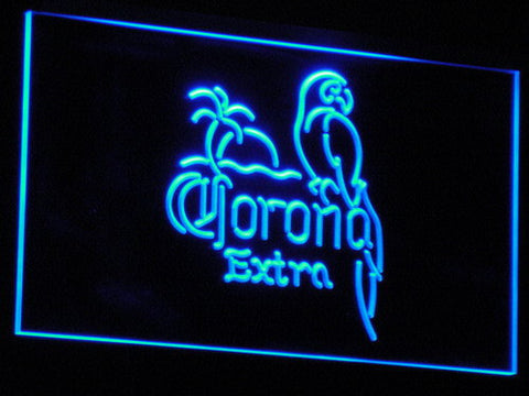 Corona Extra - Parrot LED Neon Sign - Blue - SafeSpecial