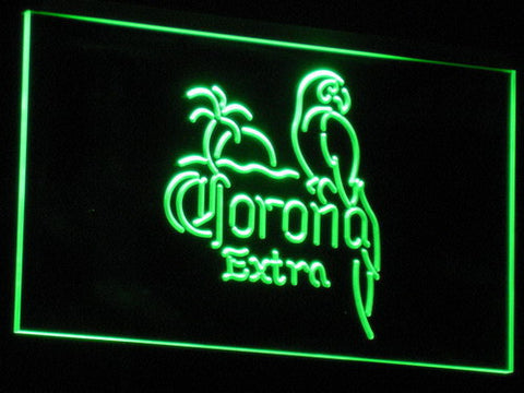 Corona Extra - Parrot LED Neon Sign - Green - SafeSpecial
