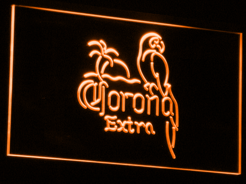 Corona Extra - Parrot LED Neon Sign - Orange - SafeSpecial