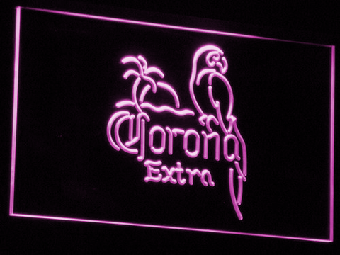Corona Extra - Parrot LED Neon Sign - Purple - SafeSpecial