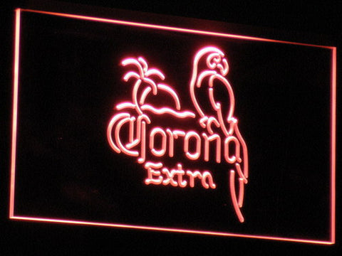 Corona Extra - Parrot LED Neon Sign - Red - SafeSpecial