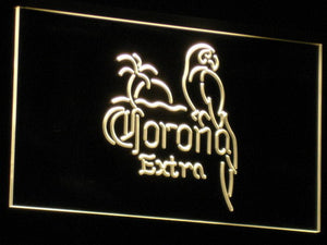 Corona Extra - Parrot LED Neon Sign - Yellow - SafeSpecial