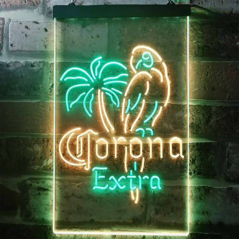 Corona Extra - Parrot Neon-Like LED Sign - Dual Color