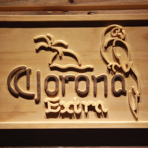 Corona Extra - Parrot Wooden Sign - - SafeSpecial