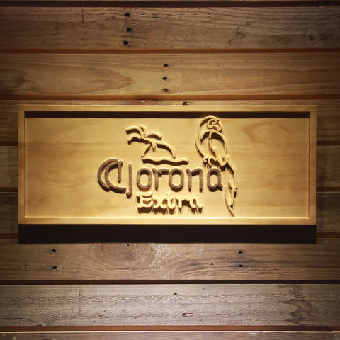 Corona Extra - Parrot Wooden Sign - Small - SafeSpecial