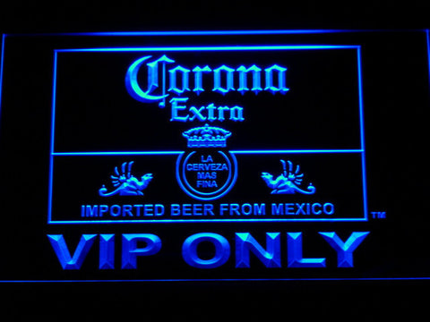 Corona Extra VIP Only LED Neon Sign - Blue - SafeSpecial