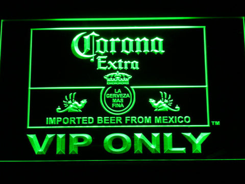 Corona Extra VIP Only LED Neon Sign - Green - SafeSpecial
