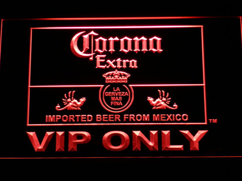 Corona Extra VIP Only LED Neon Sign - Red - SafeSpecial