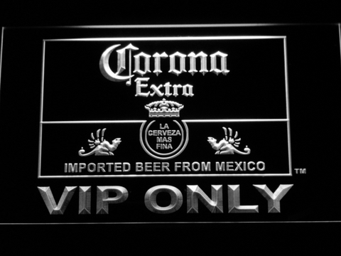 Corona Extra VIP Only LED Neon Sign - White - SafeSpecial