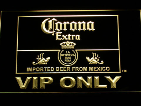 Corona Extra VIP Only LED Neon Sign - Yellow - SafeSpecial