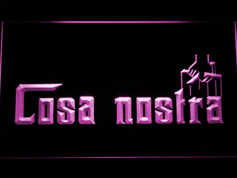 Cosa Nostra LED Neon Sign - Purple - SafeSpecial